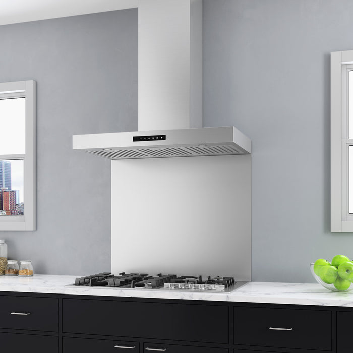 Moderna 36 in. Wall-Mounted Range Hood in Stainless Steel with Night Light Feature