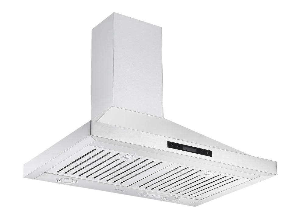 Ancona WPB630 30 in. Wall Mount Pyramid Range Hood in Stainless Steel