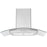 36 in. Convertible Wall-Mounted Glass Canopy Range Hood in Stainless Steel