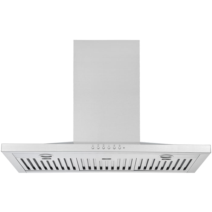 WPL636 36 in. Wall-Mounted Pyramid Range Hood in Stainless Steel with Night Light Feature