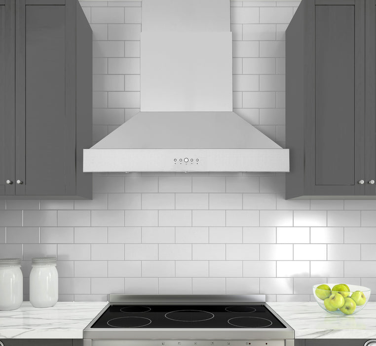 36 in. Convertible Pro Series Wall-Mounted Pyramid Range Hood in Stainless Steel