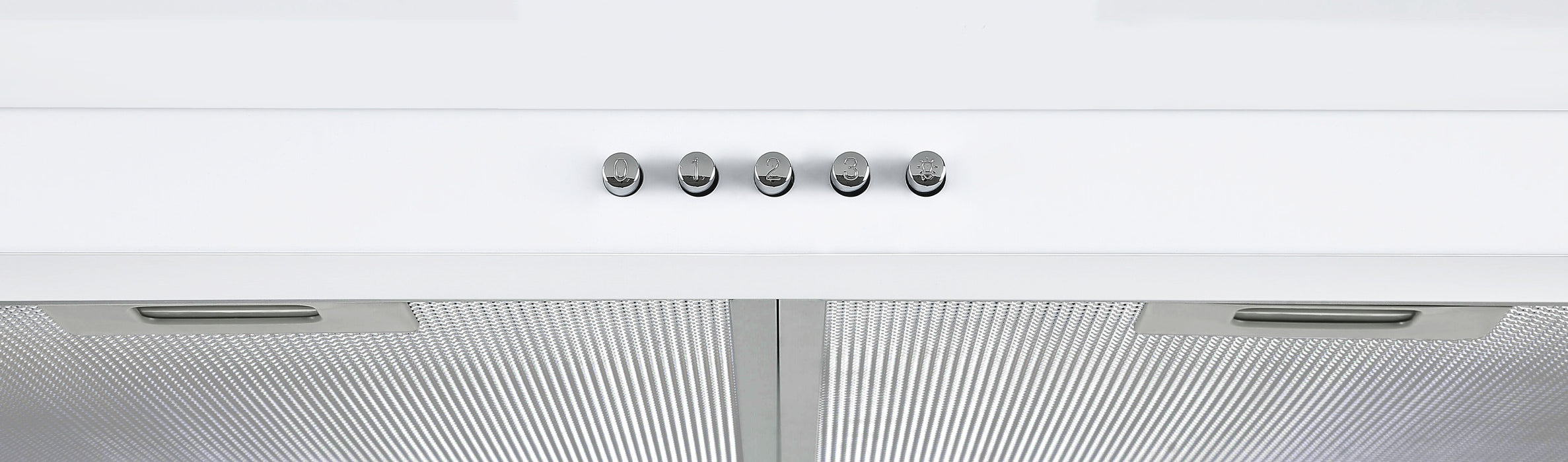30 in. Convertible Wall-Mounted Pyramid Range Hood in White