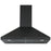Ancona 30 in. Convertible Wall-Mounted Pyramid Range Hood in Matte Black