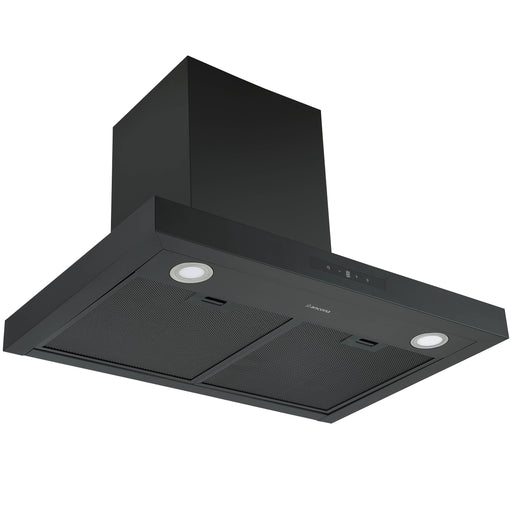 30 in. Convertible Wall-Mounted Rectangular Range Hood in Matte Black