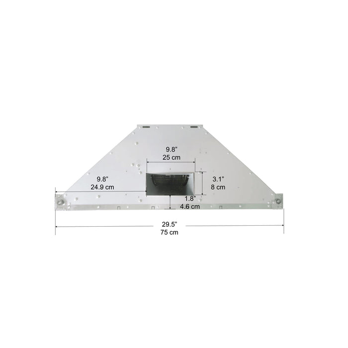 WRRV430 30 in. Rear-Vented Wall Mount Pyramid Range Hood in Stainless Steel