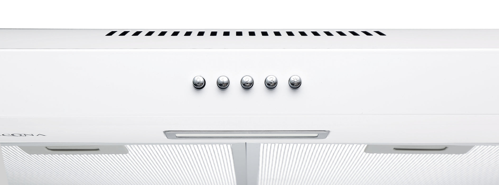 24 in. Convertible Under Cabinet Range Hood in White Stainless Steel