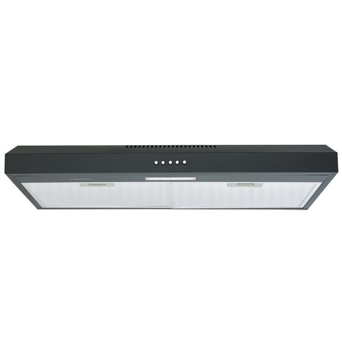 Ancona 30 in. Convertible Under Cabinet Range Hood in Matte Black Stainless Steel
