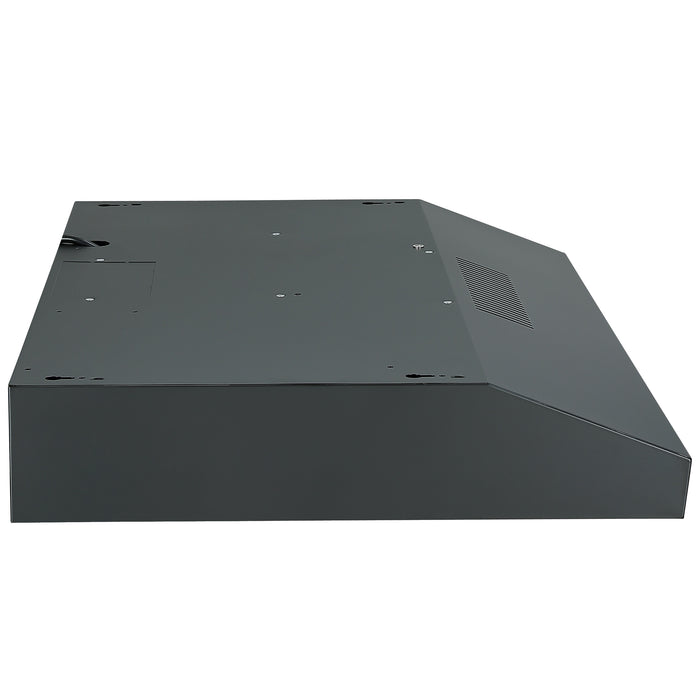 Ancona 30 in. Convertible Under Cabinet Range Hood in Matte Black