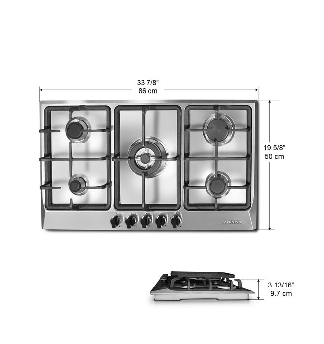 Elite 34-Inch 5-Burner Gas Cooktop