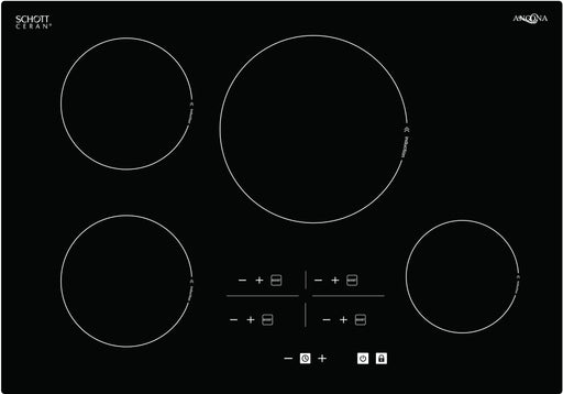 Elite 30 in. Glass-Ceramic Induction Cooktop in Black with 4 Elements Featuring Individual Boost Function