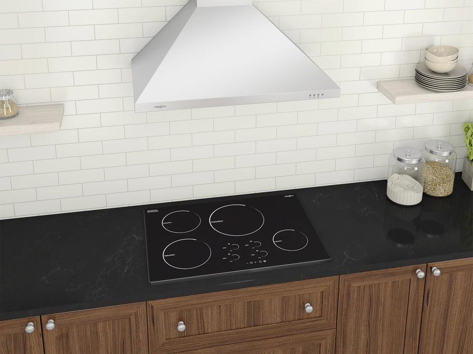 Ancona Radiant 30 in. Induction Cooktop with 4 Burners with individual Boost function