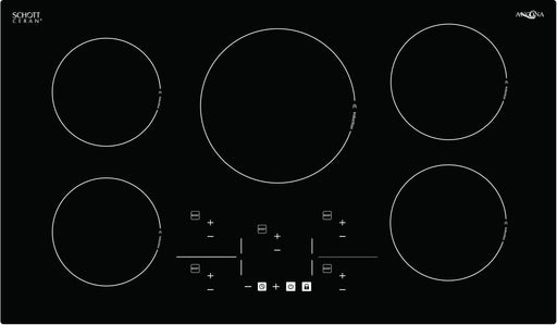 Elite 36 in. Glass-Ceramic Induction Cooktop in Black with 5 Elements Featuring Individual Boost Function