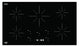 Ancona Chef 36 in. Glass-Ceramic Induction Cooktop in Black with 5 Elements Featuring Individual Boost Function
