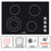 Ancona Elite 30 in. 4-Burner Radiant Ceramic Cooktop with Knob Controls