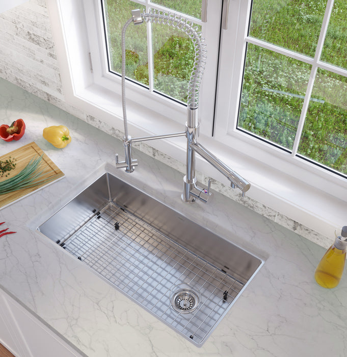 Ancona Valencia Series Dual-Mount Single Bowl Kitchen Sink