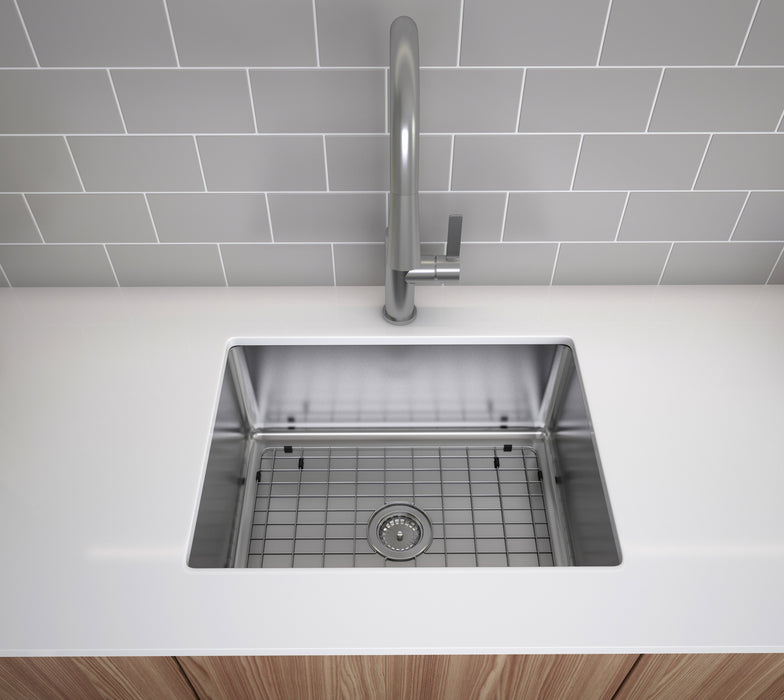 Valencia Series 25 in x 22 in. Compact Dual Mount Single Bowl Kitchen Sink