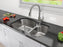 Tusca Series Dual-Mount 33 in. 60/40 Double Bowl Stainless Steel Kitchen Sink
