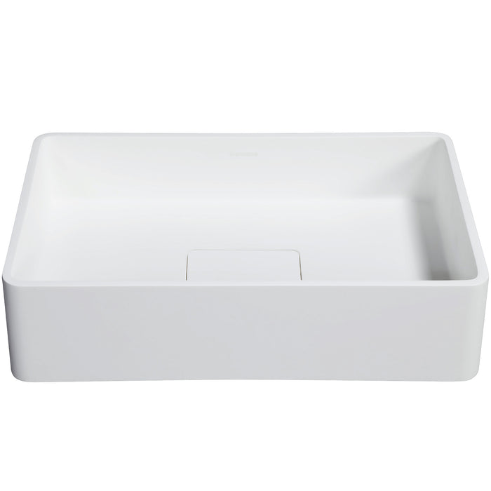 Ancona Pure Acrylic Stone Vessel Sink and Chrome Faucet Combo