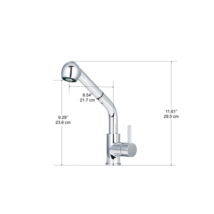 Toledo Transitional Pull-Down Kitchen Faucet