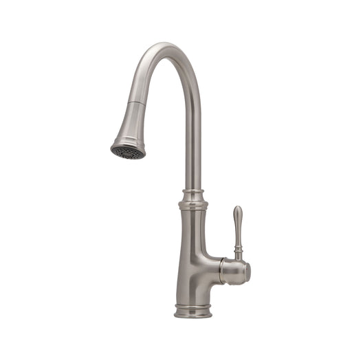 Villa Single Handle Pull-out Kitchen Faucet in Brushed Nickel