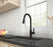 Aria Pull-Down Single Handle Dual Spray Black Matte Faucet
