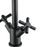 Prima Colori Single Hole Double Cross Handle Bathroom Faucet in Matte Black