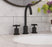 Prima 3 Matte Black Bathroom Faucet