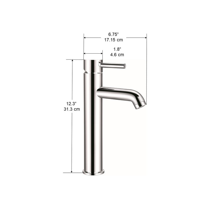 Argenta Single hole Single Handle Bathroom Faucet