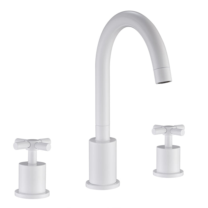 Prima 3 Series White Bathroom Faucet