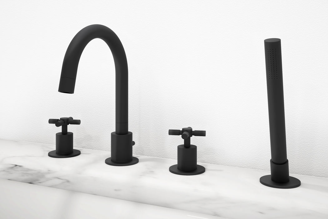 Prima 4 Colori Series Black Matt Bathroom Tub Faucet
