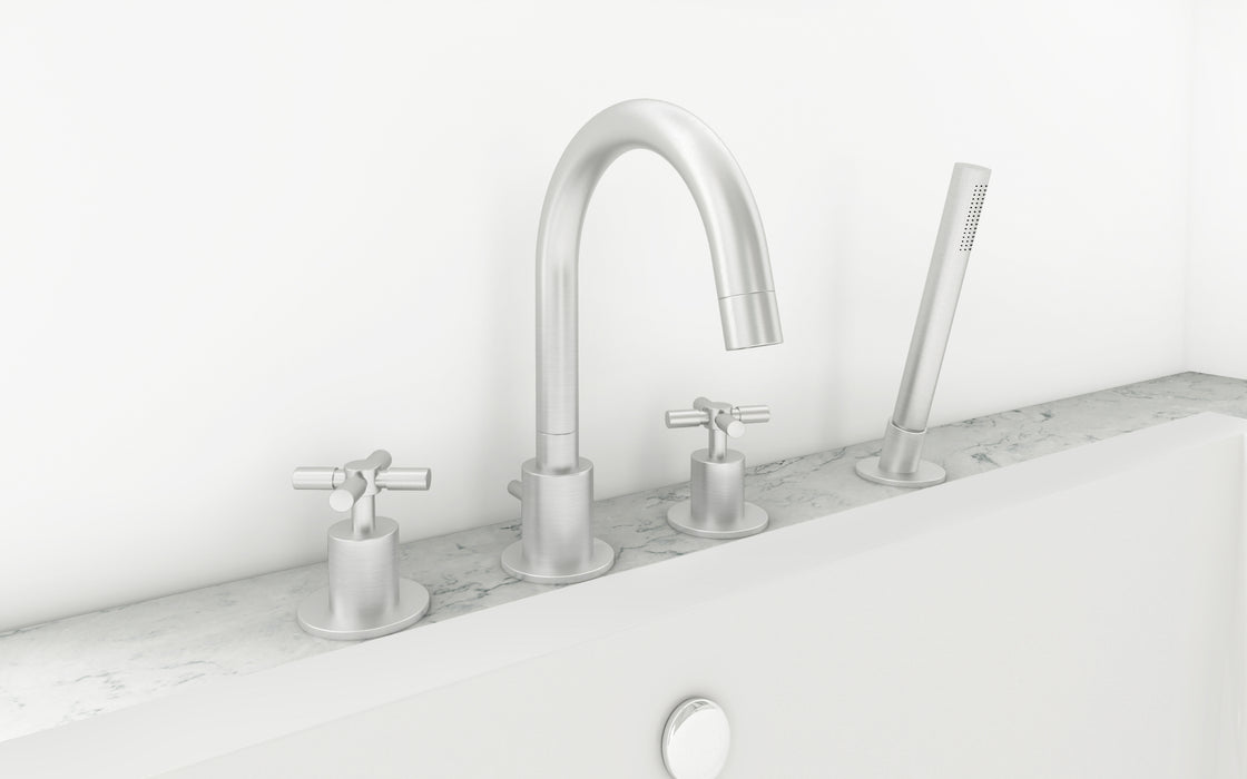 Prima 4 Colori Series Brushed Nickel Bathroom Tub Faucet