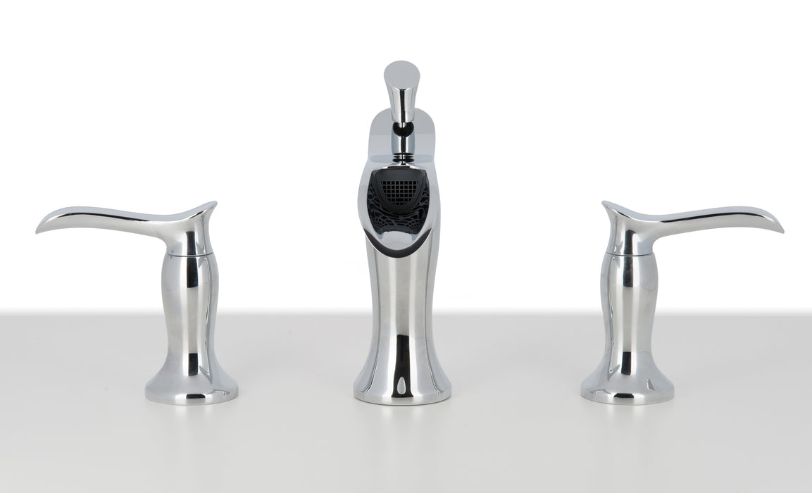 Eleganzia Series Widespread Chrome Bathroom Faucet