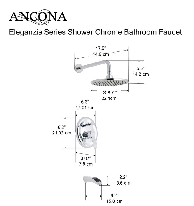 Eleganzia Series Shower Chrome Bathroom Faucet