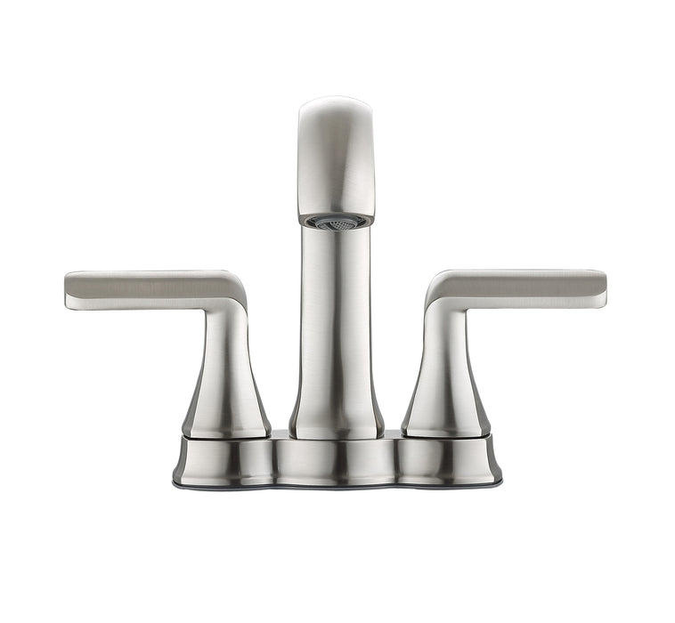 Arezzo Deck Mount Bathroom Faucet in Brushed Nickel