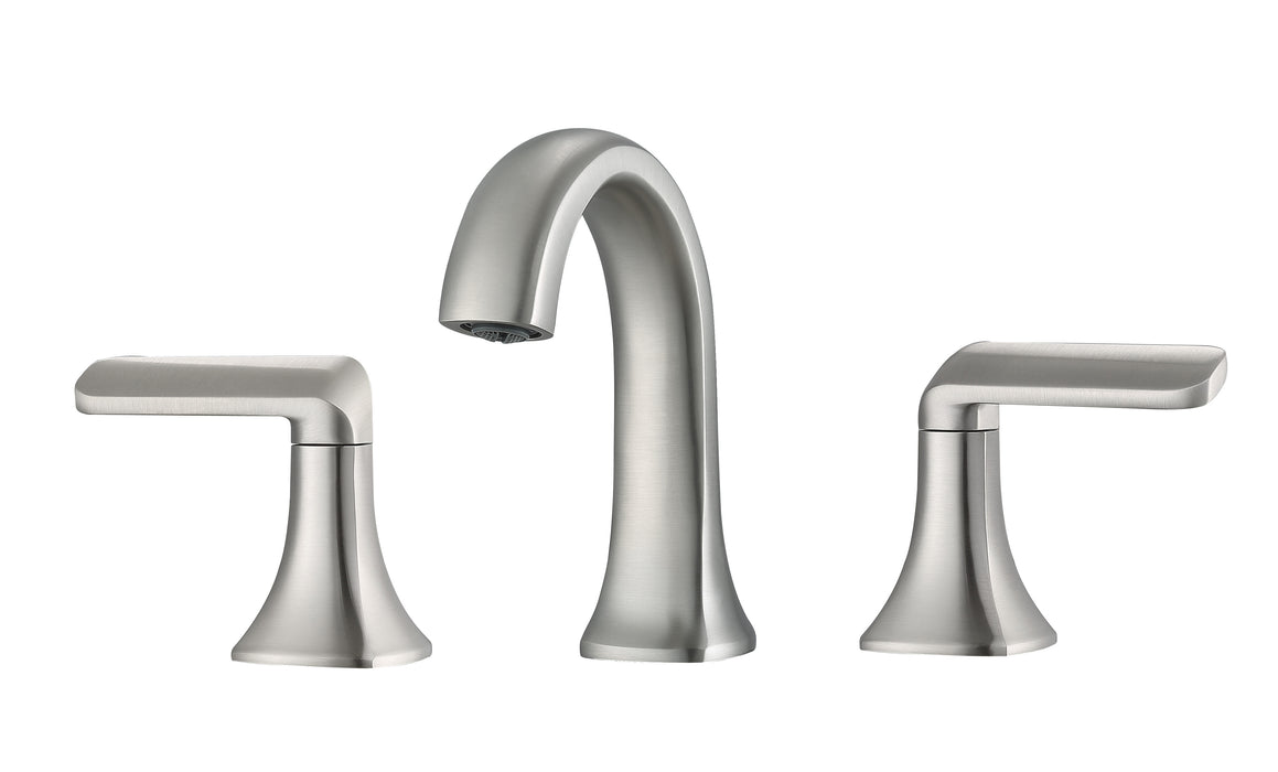 Arezzo Widespread Bathroom Faucet in Brushed Nickel