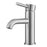 Valencia Series Single Lever Bathroom Faucet in Brushed Nickel