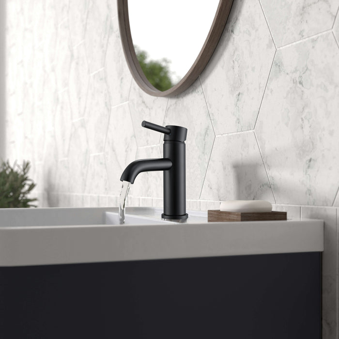 Valencia Series Single Lever Bathroom Faucet in Matte Black
