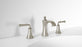 Peonia Widespread Bathroom Faucet in Brushed Nickel