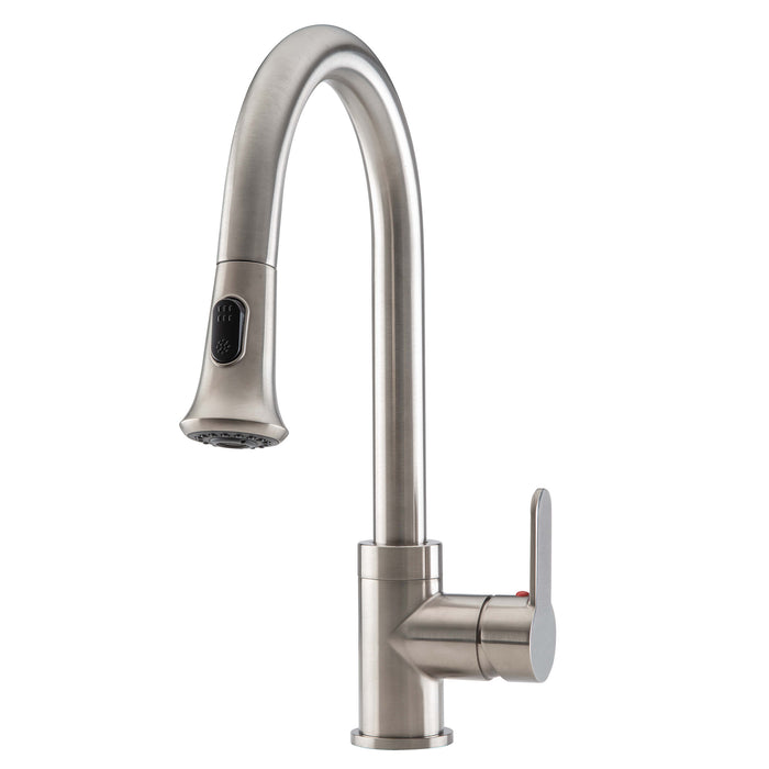 Rivella Pull-Down Single Handle Dual Spray Brushed Nickel Faucet