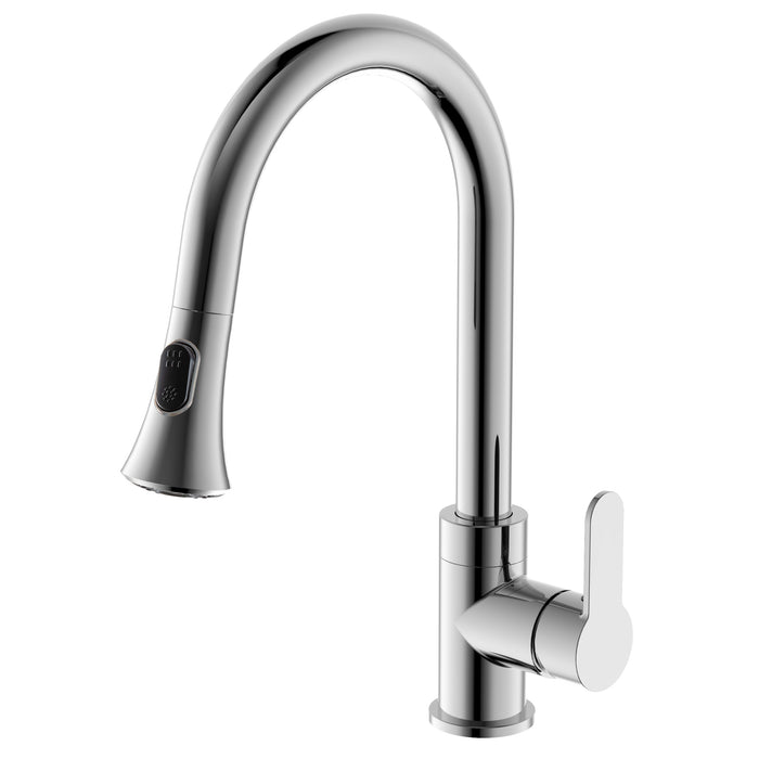 Rivella Pull-Down Single Handle Dual Spray Chrome Faucet