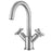 Ava Series Single Hole Cross Handle Bathroom Faucet in Brushed Nickel Finish