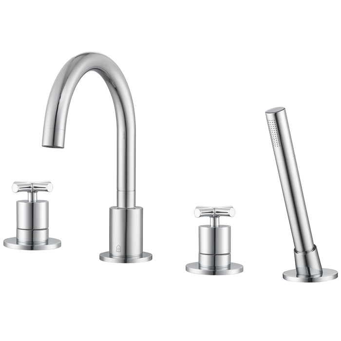 Ava Two Handle Roman Tub Faucet in Chrome finish