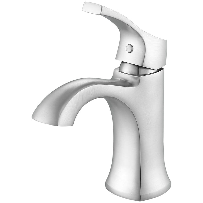 Ancona Morgan Series Single Lever Bathroom Faucet in Brushed Nickel