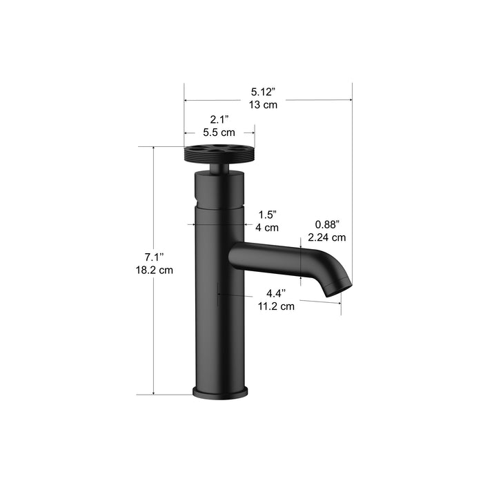 Nova Series Single Lever Bathroom Faucet in Matte Black finish