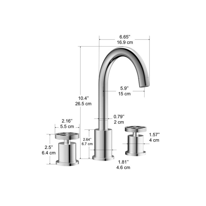 Nova Series Widespread Bathroom Faucet in Chrome finish