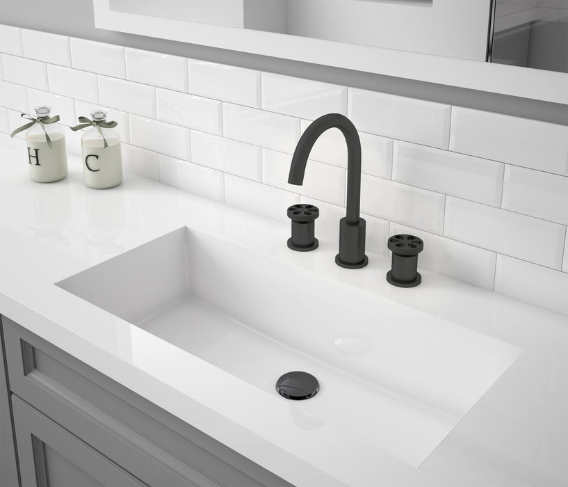 Nova Series Widespread Bathroom Faucet in Matte Black finish
