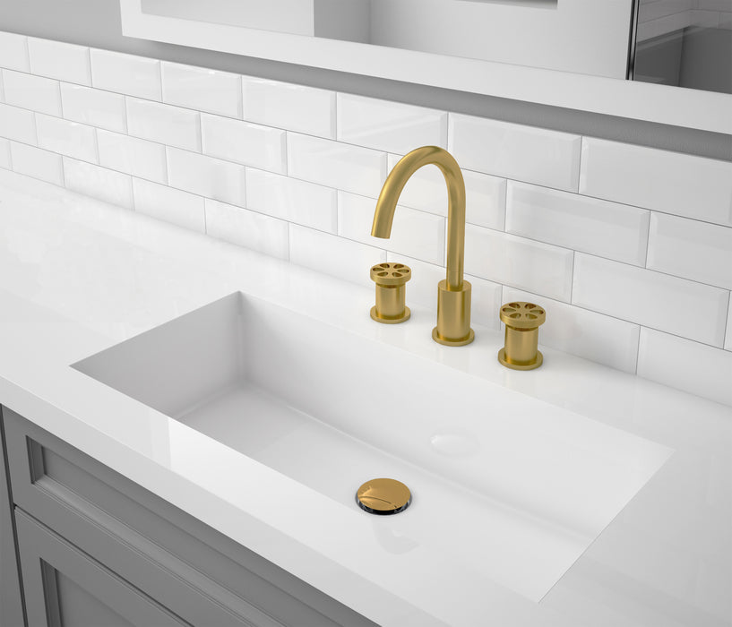 Nova Series Widespread Bathroom Faucet in Brushed Titanium Gold finish