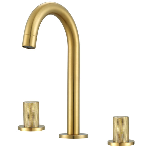 Ancona Industria Series Widespread Bathroom Faucet in Brushed Gold