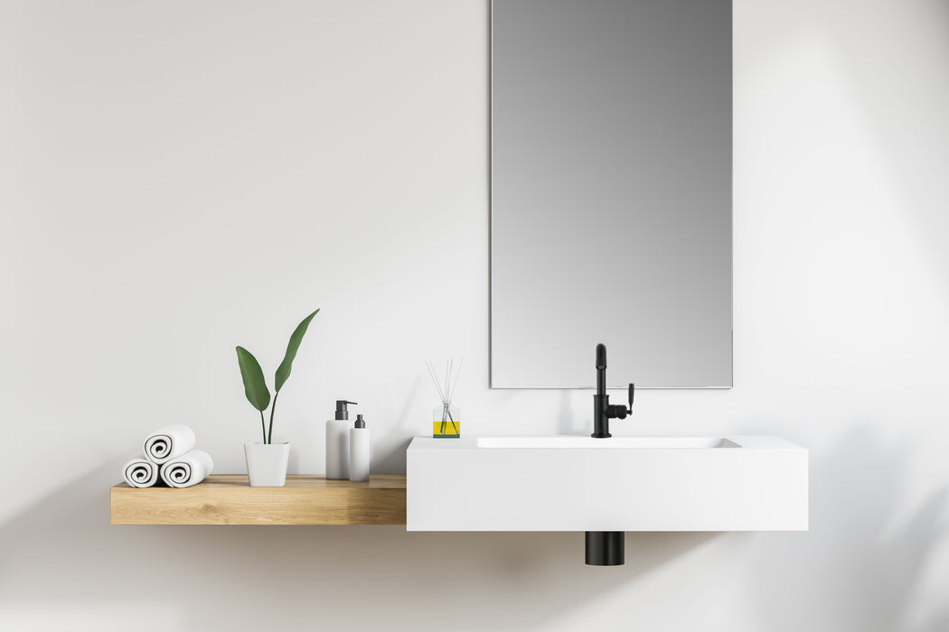 Industria Series Single Lever Bathroom Faucet in Matte Black