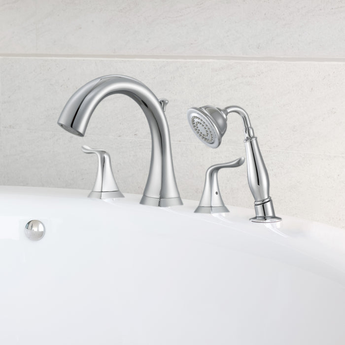 Scarlett Roman Tub Bathroom Faucet in Chrome